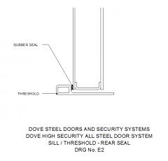 Sill / Threshold Rear seal dwg