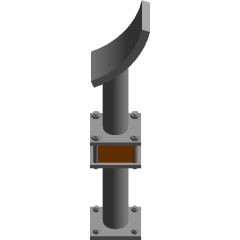 Elbow support DN100 revit family