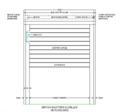 Electric Security Shutter dwg