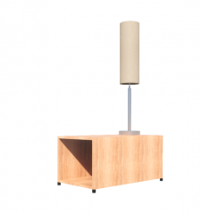 End Table with working light revit model