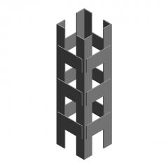 Enhanced lattice column revit family