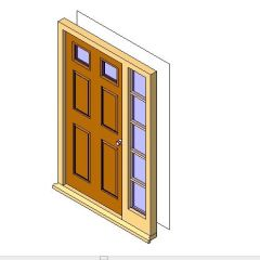 ExtSgl with Side Panel Revit Family