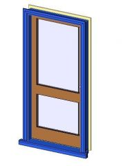 Exit Single In Timber 2Lite (NZ) Revit Family