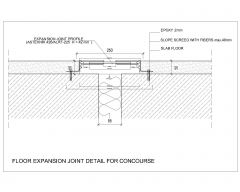 FLOOR EXPANSION JOINT DETAIL FOR CONCOURSE