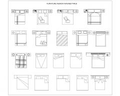 Furniture for Interior Fixtures of Lounges & Livings_1 .dwg