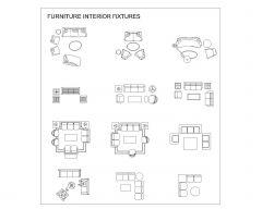 休息室和生活室内家具的家具_9 .dwg