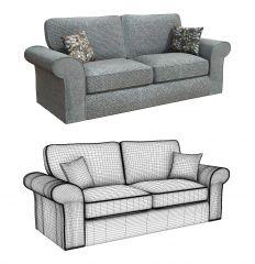 3DS Max fabric sofa model