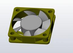 Mechanisches Lüfter-Solid-Works-Modell