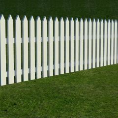 Wooden Fence Triangle Head sldprt model