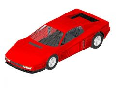 Revit Family 3d Car Ferrari Testarossa