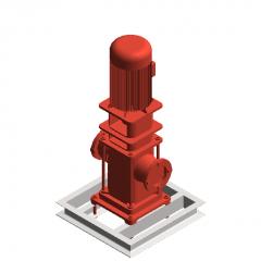 Fire pump-vertical revit family