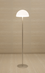 Floor Lamp with silver circle frame and footing revit family