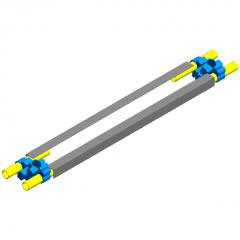 Foundation pit-self-built steel pedal revit family