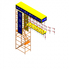Foundation pit stairs revit family