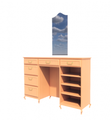 Desk with drawer and mirror revit model