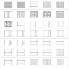 Garage doors CAD collection dwg