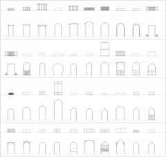 Садовые арки Коллекция CAD dwg