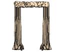 Puerta de cortinas de bronce (252) skp