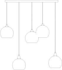 Glass Pendant Buld Light Front Elevation dwg Drawing