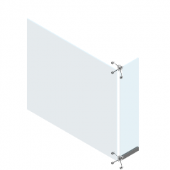 Glass ribbed curtain wall panel revit family