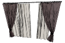 Gray 2 layer curtains(274) skp