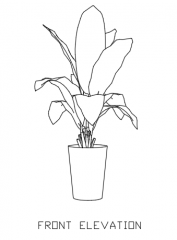 Green Plant for Balcony 11 dwg Drawing