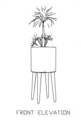Green Plant for Balcony 26 dwg Drawing