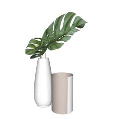 Green bough vase with ceramic empty vase skp