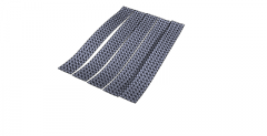 Grey curtain with slash pattern 92) skp