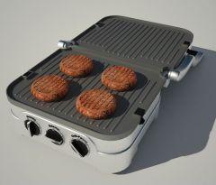 Griddle and grill 3d max vray model