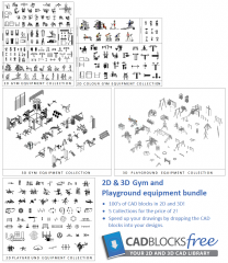 2D & 3D Gym and Playground Bundle