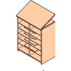 HamiltonSorter Modular Casework Wall Cabinet Sorter_w_Shelves  Revit