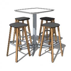 4スツールskpの高MDFコーヒーテーブル