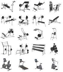 Gym 3D models in 3ds max & FBX formats