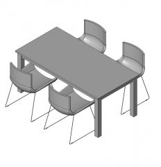 Mesa de comedor y sillas de Houston RFA