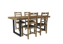 Industrial style dining table and chairs 3DS Max models & FBX models