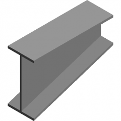 H-shaped variable section steel beam revit family