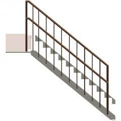 Inclined steel ladder revit family