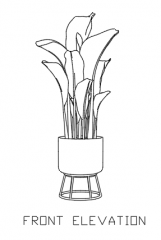 Indoor Plants for Living Room 5 dwg Drawing