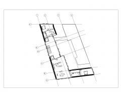 Irregular Shape Multistoried House Design Layout Plan .dwg-6