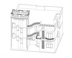 Isometric Views of Residence Building .dwg-5