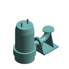 Submersible sewage pump fixed self-coupling revit family