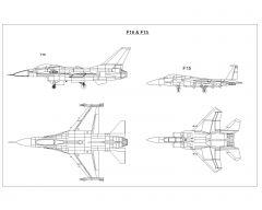 Jet Plans F-15 & F-15 .dwg