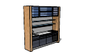 Kitchen metal and glass cabinet skp