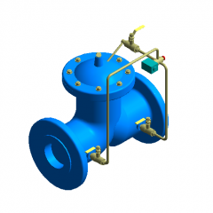 Electric control valve revit family