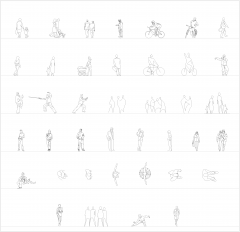 Leisure people CAD collection dwg