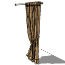 Light brown curtains(153) skp