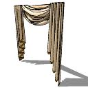 ライトブラウンカーテン(157)SKP