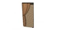 Light brown curtains(73) skp