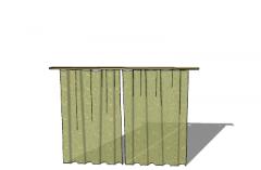 Light green vintage curtains  (115) skp